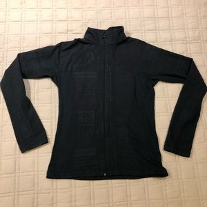 Lululemon catch me air fitted zip up black
